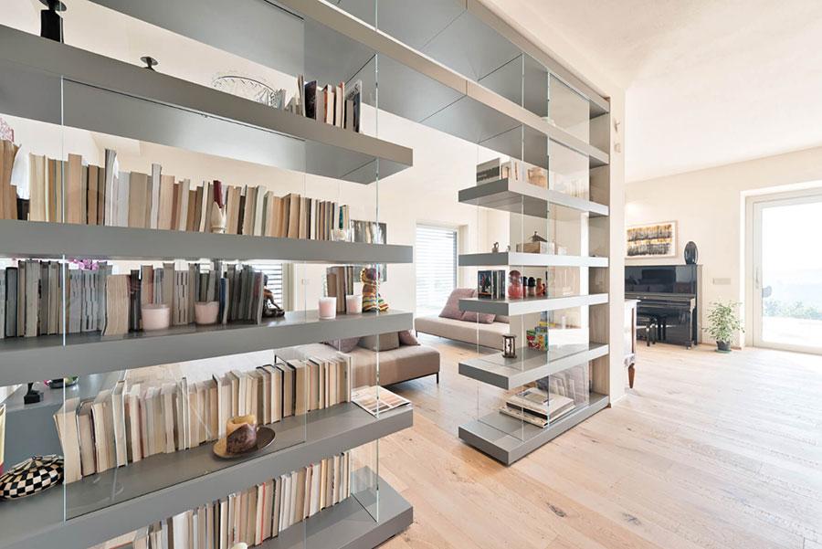 Libreria a parete per soggiorno Lago 05