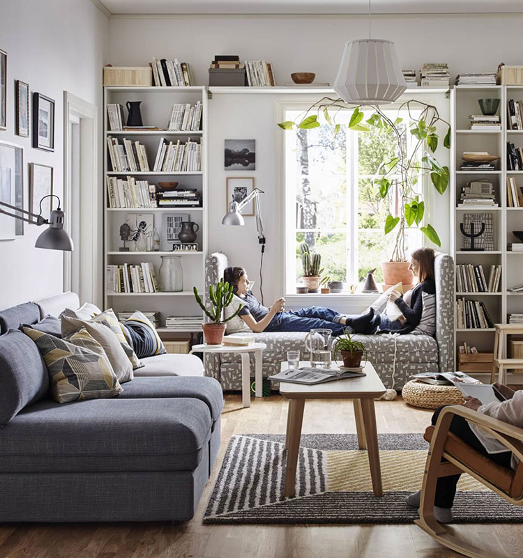 Ikea Show Room Innovation Inspiration Showrooms On Bedroom: Libreria A Parete: 25 Idee Di Design Per Arredare Il