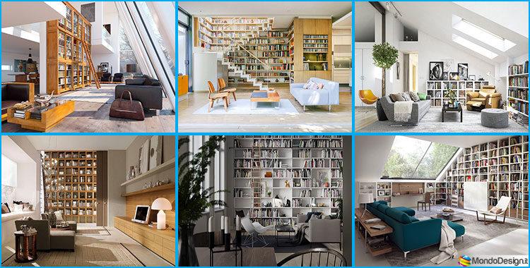 Libreria a parete idee di design per arredare il soggiorno