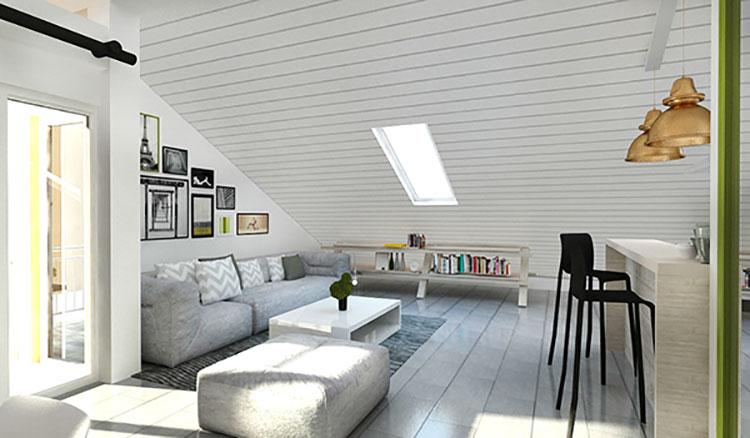 Come arredare una mansarda open space ecco 8 progetti di - Idee arredamento mansarda ...
