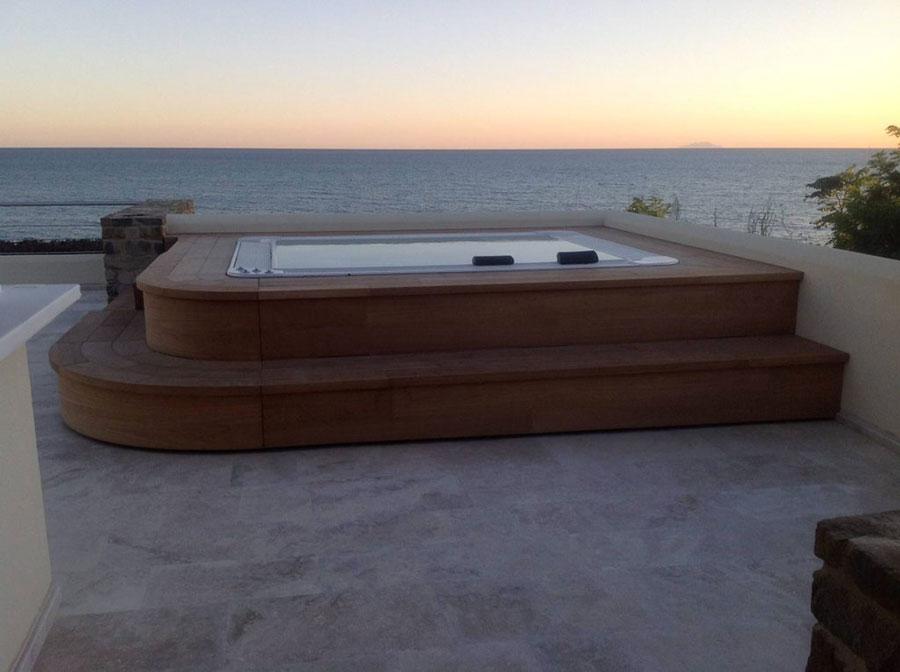 Modello di piscina fuori terra di Lazzerini