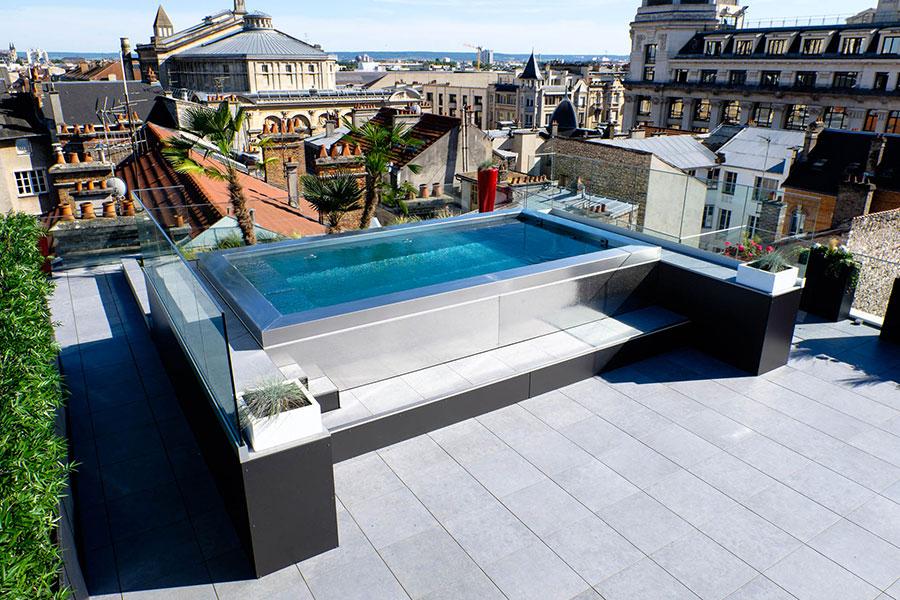 Modello di piscina fuori terra di Steel and Style