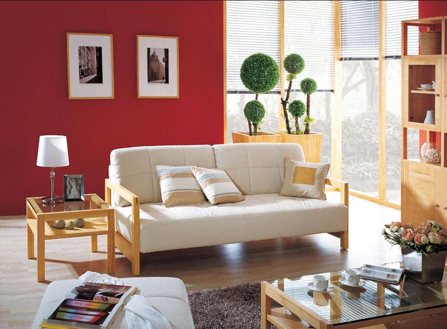 60 idee per colori di pareti del soggiorno for Parete rossa soggiorno