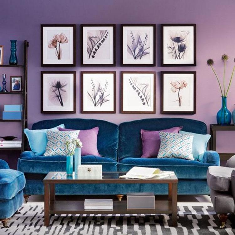 Pareti del soggiorno di colore viola n.03