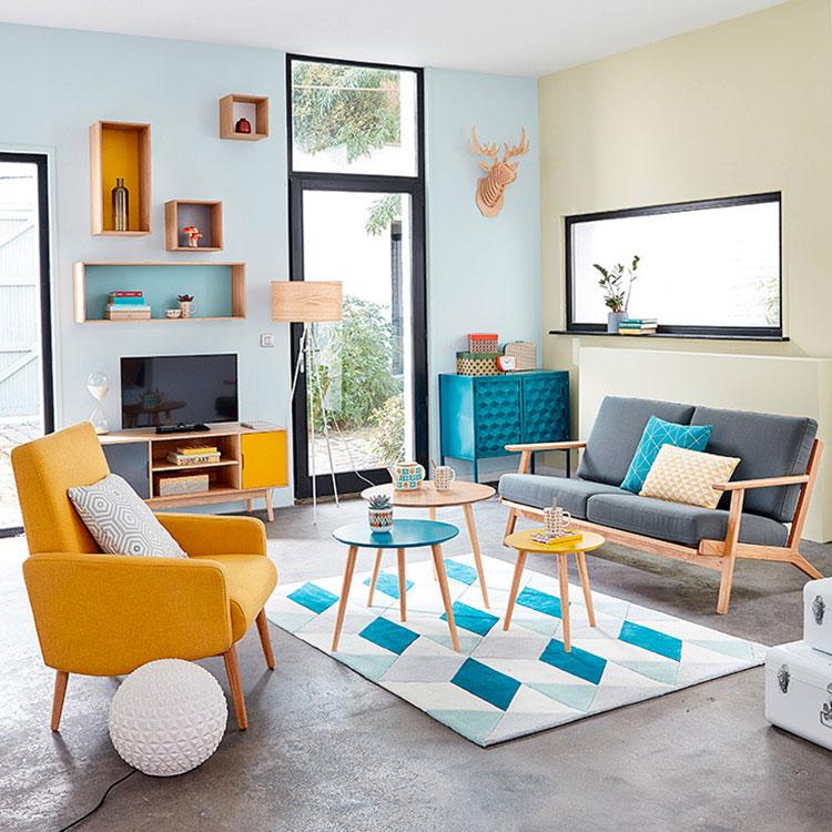 soggiorno vintage tante idee di arredamento in stile retr. Black Bedroom Furniture Sets. Home Design Ideas