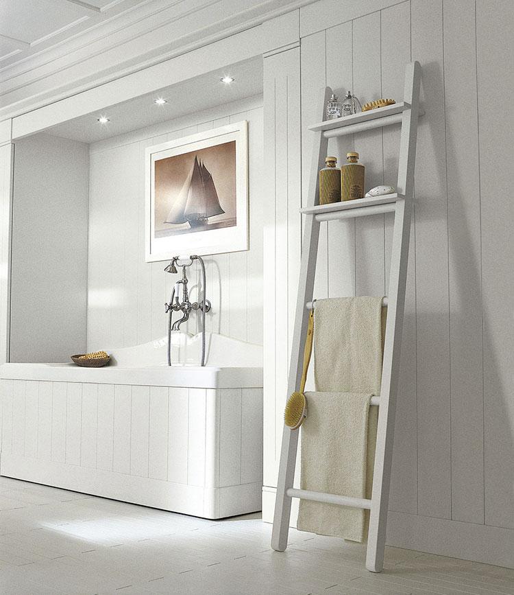 Idee per arredare un bagno classico bianco n.02