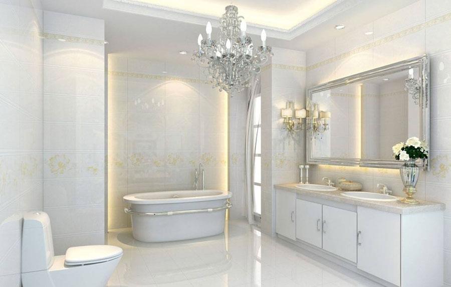 Idee per arredare un bagno classico bianco n.05