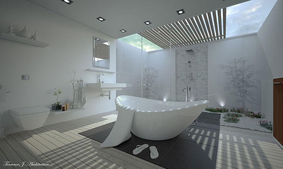 Idee su come arredare un bagno zen n.03