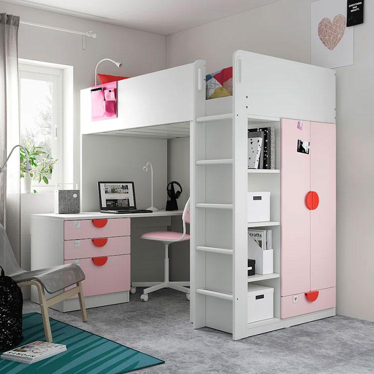 Modello di cameretta a soppalco di Ikea n.01