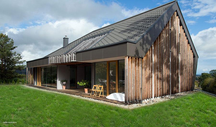 Casa prefabbricata in legno dei costruttori Biohaus