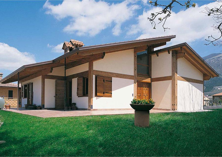 Casa prefabbricata in legno dei costruttori Costantini