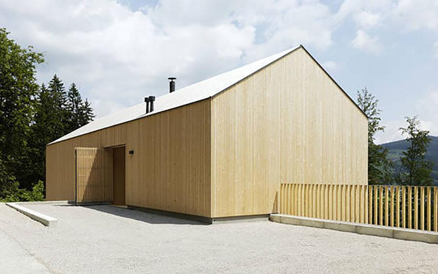 Casa prefabbricata in legno dei costruttori KLH