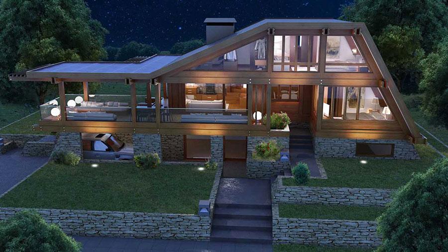 Casa prefabbricata in legno dei costruttori Pagano