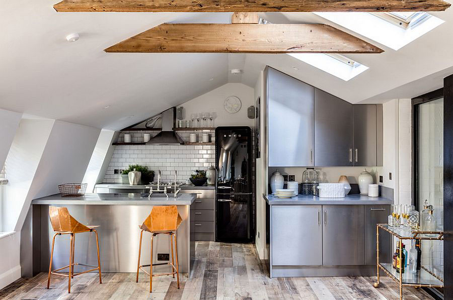 Idee per arredare una cucina in mansarda n.06
