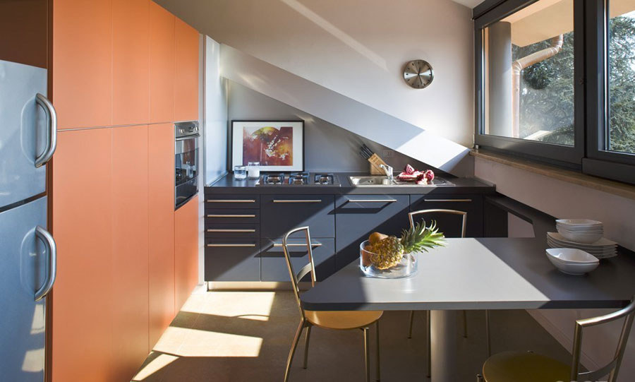 Idee per arredare una cucina in mansarda - Cucine per mansarda ...