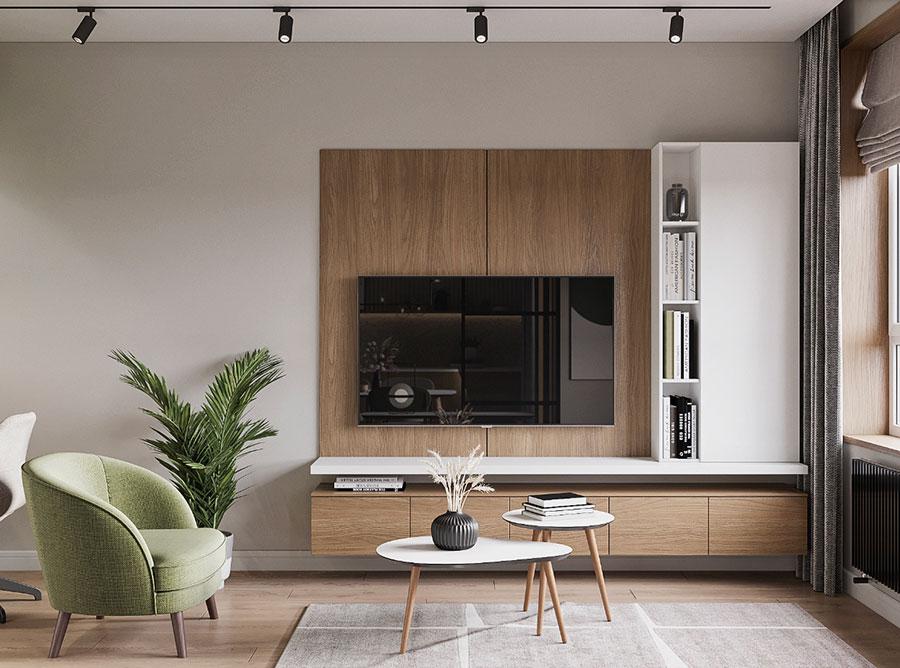 Cucina soggiorno open space di 30 mq n.02