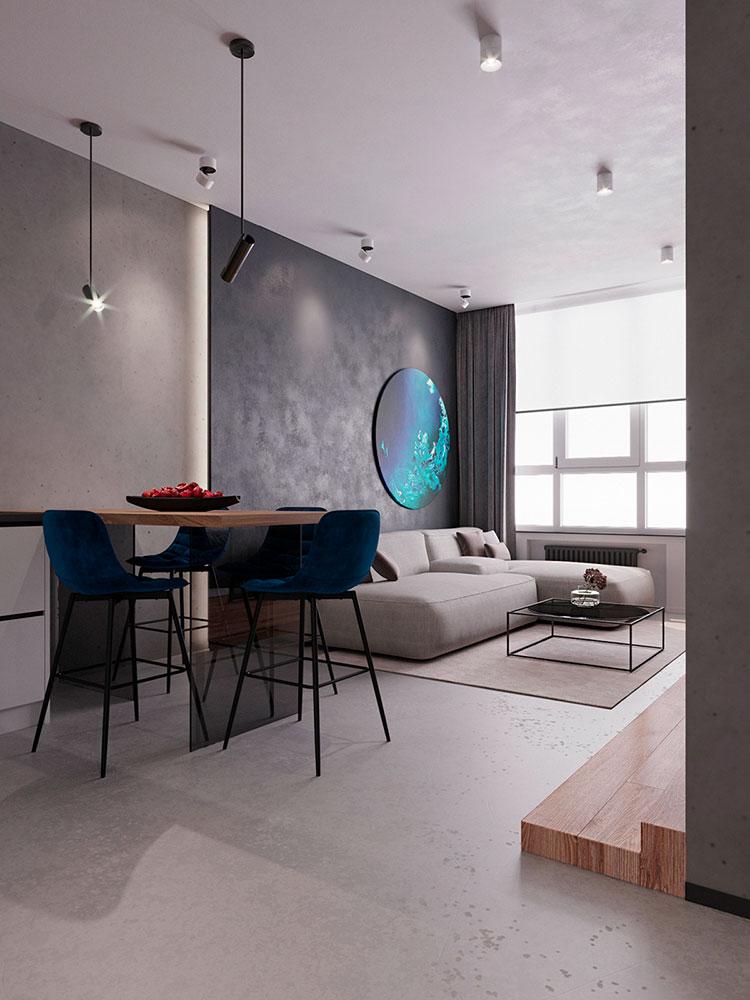 Cucina soggiorno open space di 30 mq n.06