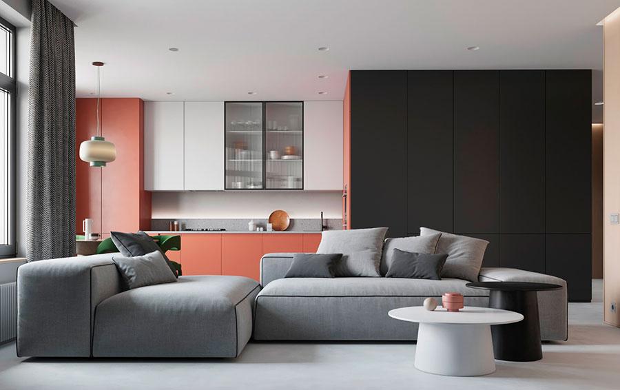 Cucina soggiorno open space di 30 mq n.13