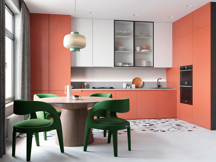 Cucina soggiorno open space di 30 mq n.14