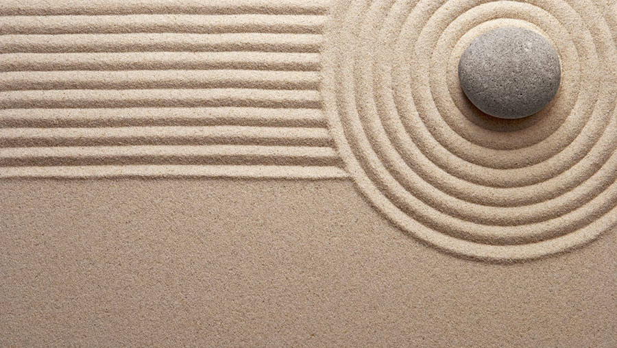 Come usare pietre e sabbia nella filosofia zen