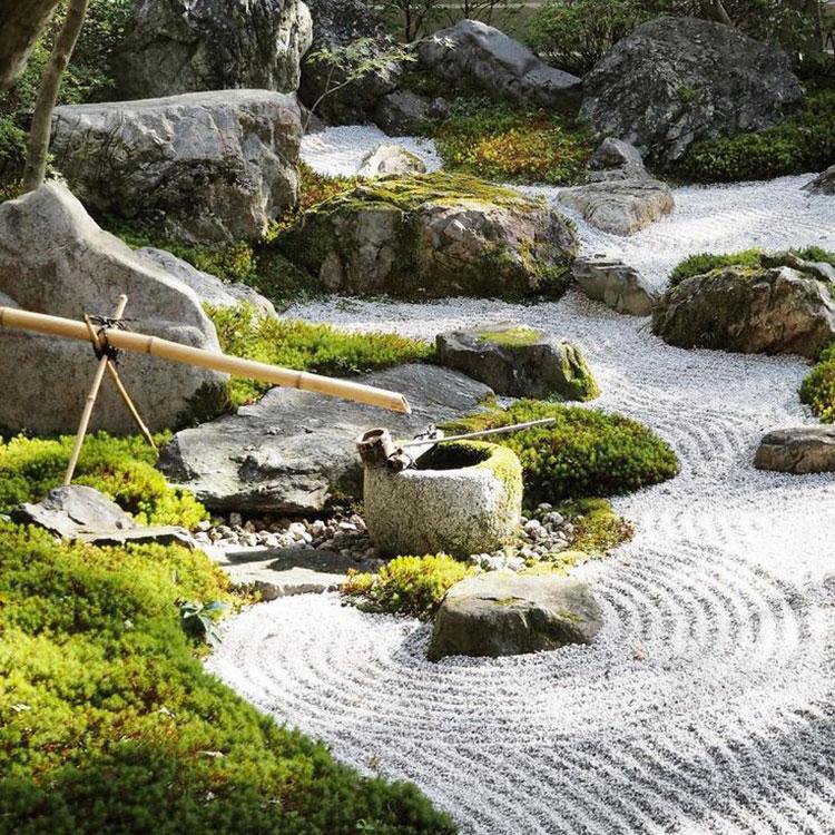 Giardino zen significato e utilizzo degli elementi for Sabbia da giardino