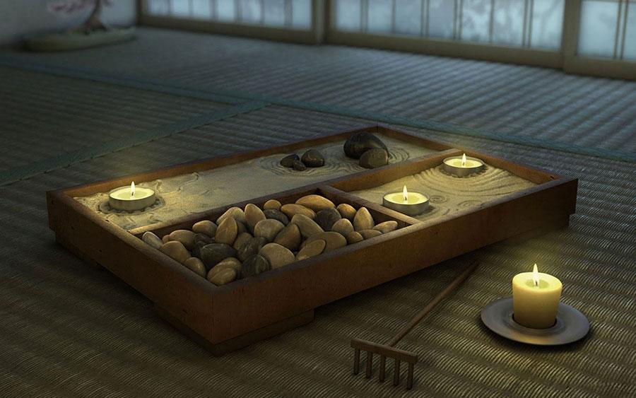 Come utilizzare i giardini zen da tavolo nell'arredamento