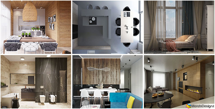 Come arredare una casa di 100 mq ecco 7 progetti a cui for Progetti case interni