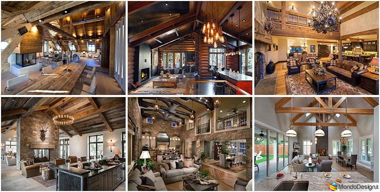 Come arredare un open space rustico ecco 20 idee - Come si arreda una casa ...