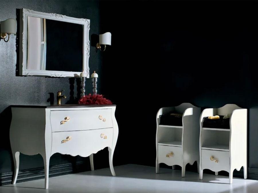 Modello di mobile bagno classico bianco n.07