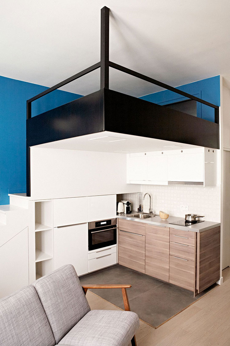 monolocale con soppalco 7 idee pratiche e funzionali. Black Bedroom Furniture Sets. Home Design Ideas