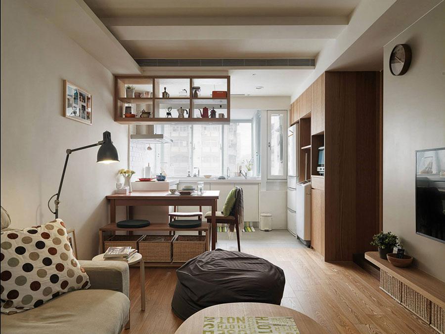 Come arredare un open space di 20 30 mq - Cucina e soggiorno in 30 mq ...
