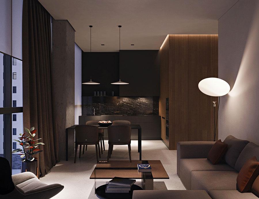 Idee per arredare un open space di mq n with arredare 20 mq - Arredare cucina soggiorno 20 mq ...