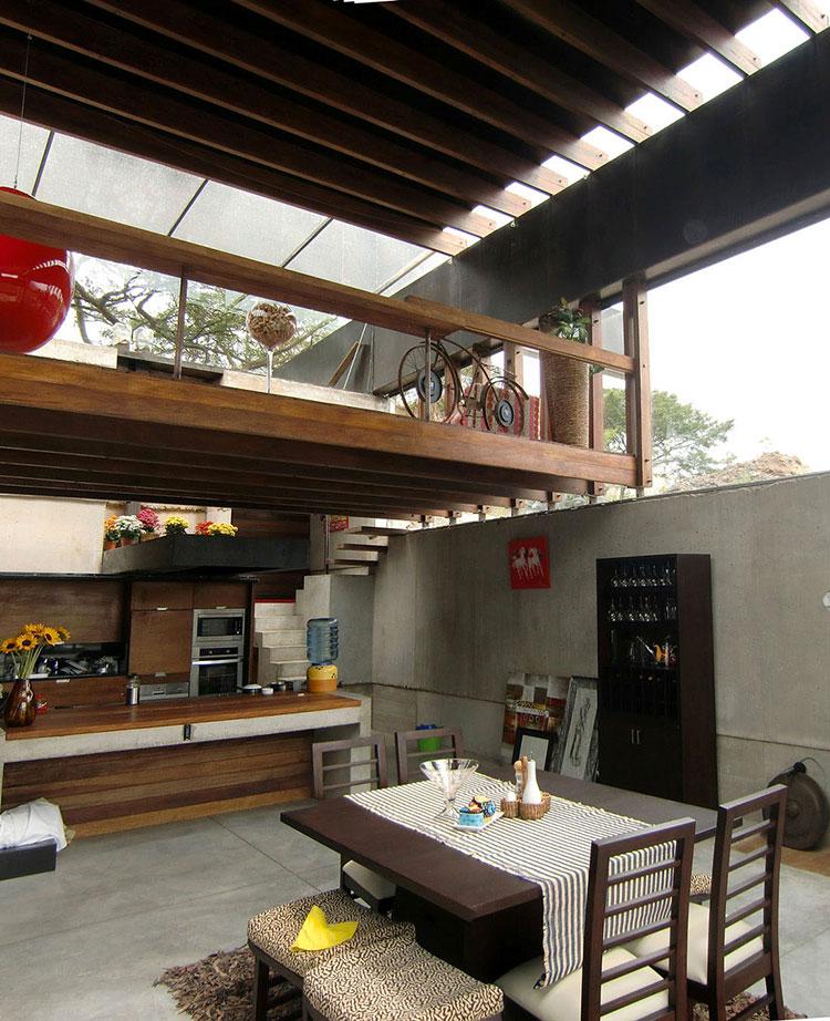 Idee per creare un open space con soppalco n.03