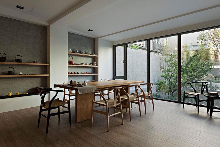 Idee su come arredare una sala da pranzo zen n.01
