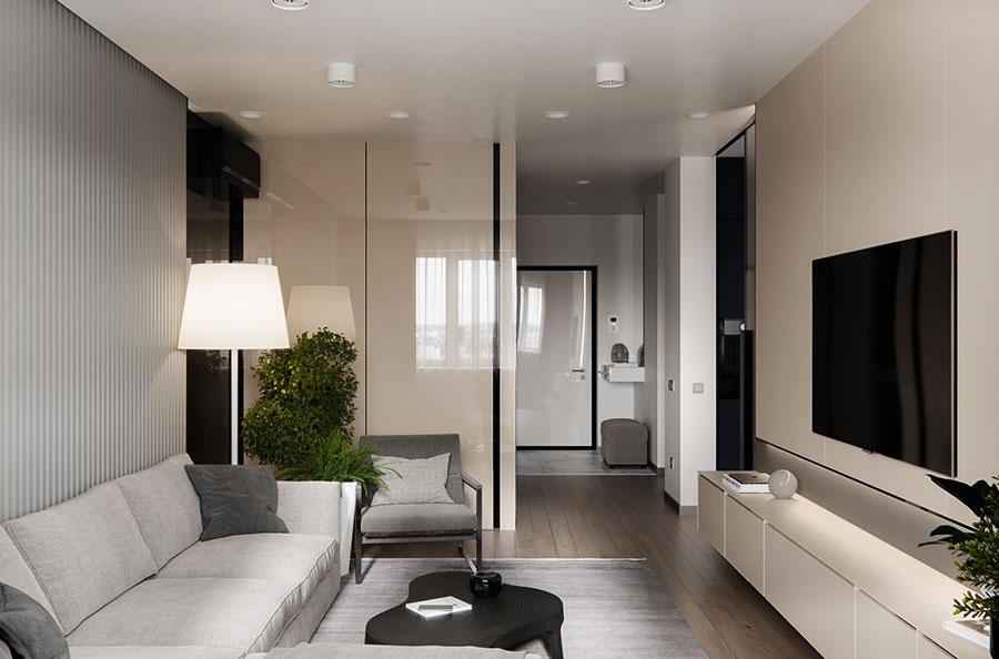 Come arredare una casa di 90 mq ecco 5 progetti di design - Arredare monolocale 35 mq ...