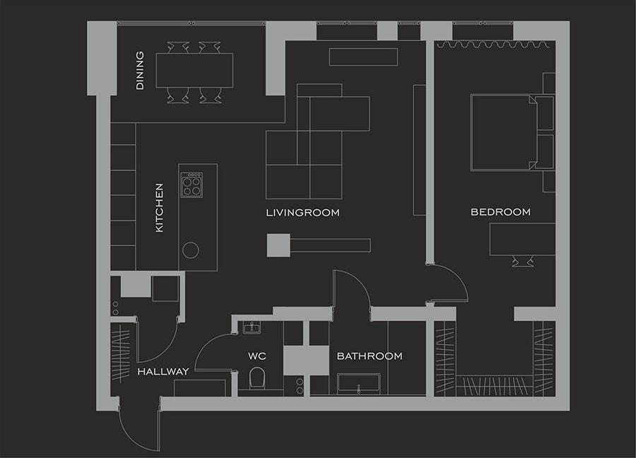 Idee per arredare una casa di 80 mq n.11