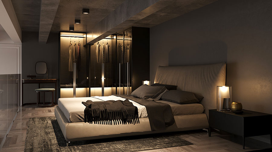 Progetto di arredamento per loft con soppalco n.03