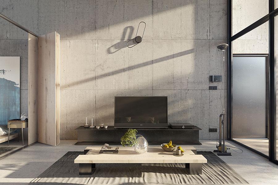 Progetto di arredamento per loft con soppalco n.06