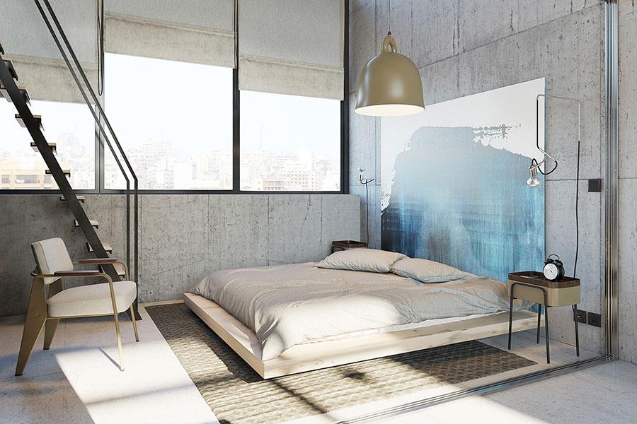 Progetto di arredamento per loft con soppalco n.07