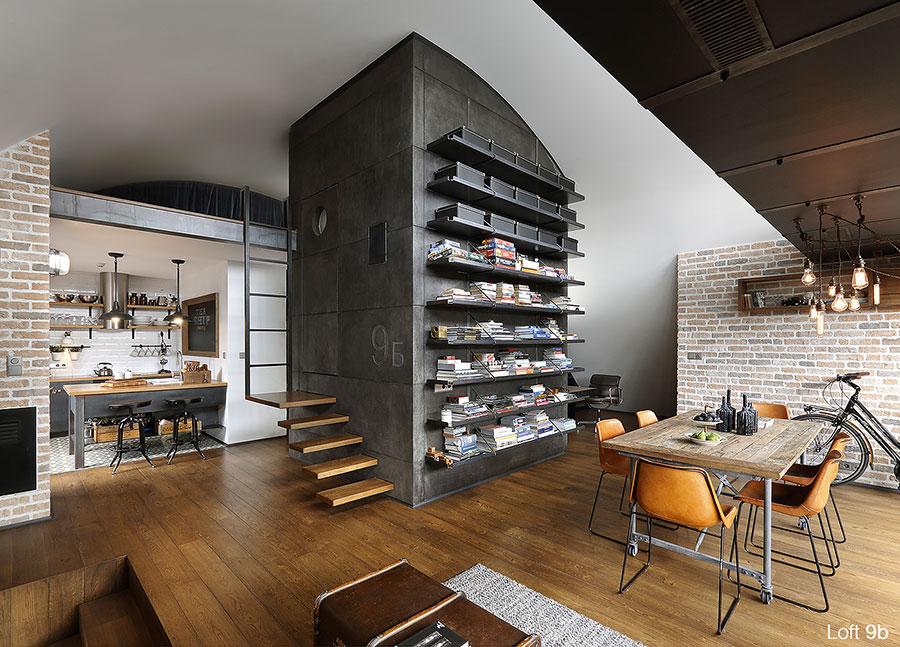 Progetto di arredamento per loft con soppalco n.10