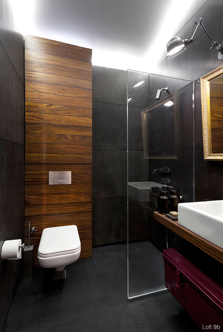 Progetto di arredamento per loft con soppalco n.13
