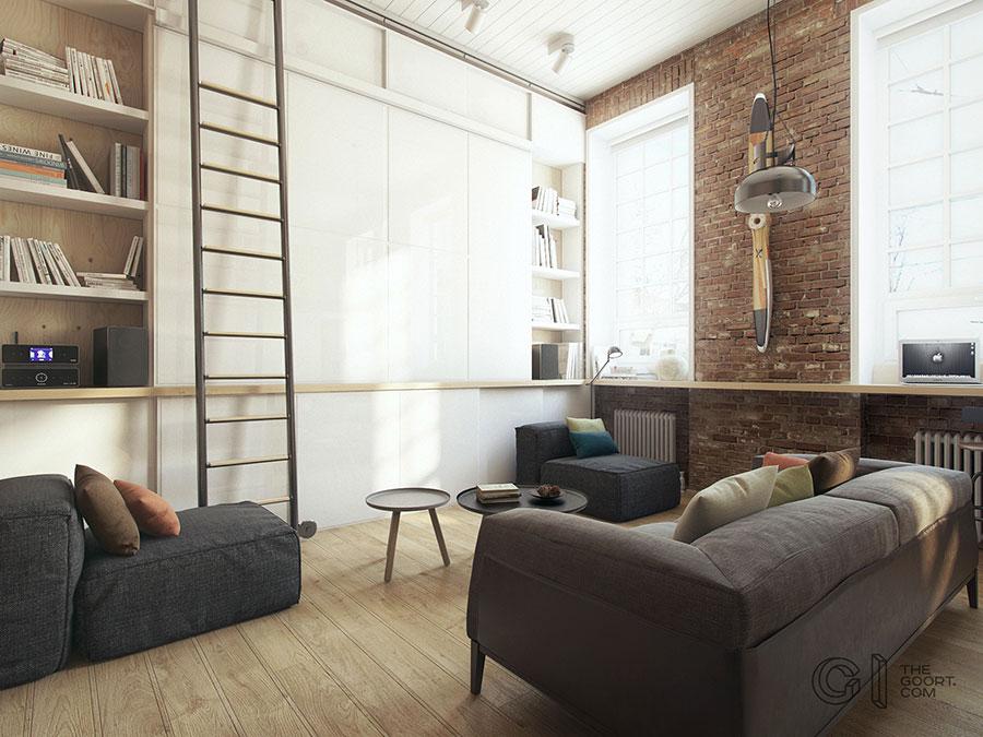Progetto di arredamento per loft con soppalco n.15