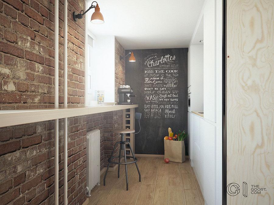 Progetto di arredamento per loft con soppalco n.16