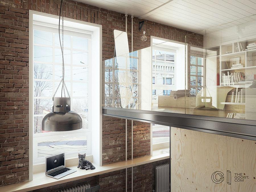 Progetto di arredamento per loft con soppalco n.17