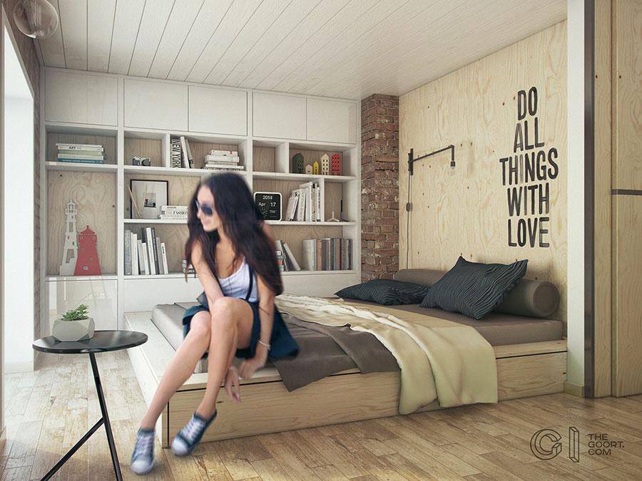 Progetto di arredamento per loft con soppalco n.18