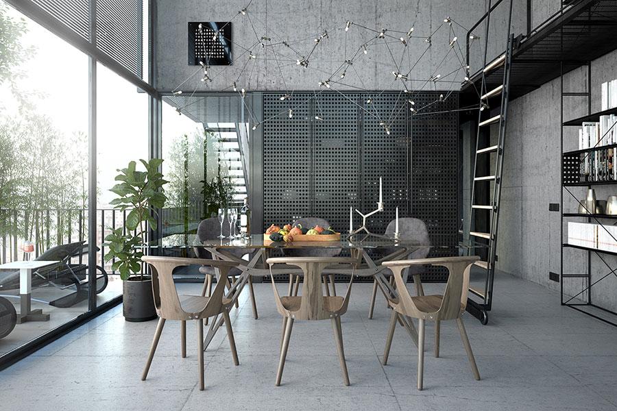 Progetto di arredamento per loft con soppalco n.26