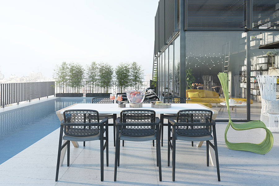 Progetto di arredamento per loft con soppalco n.27