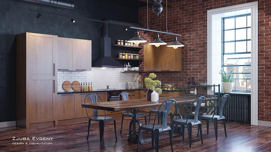 Progetto di arredamento per loft con soppalco n.33