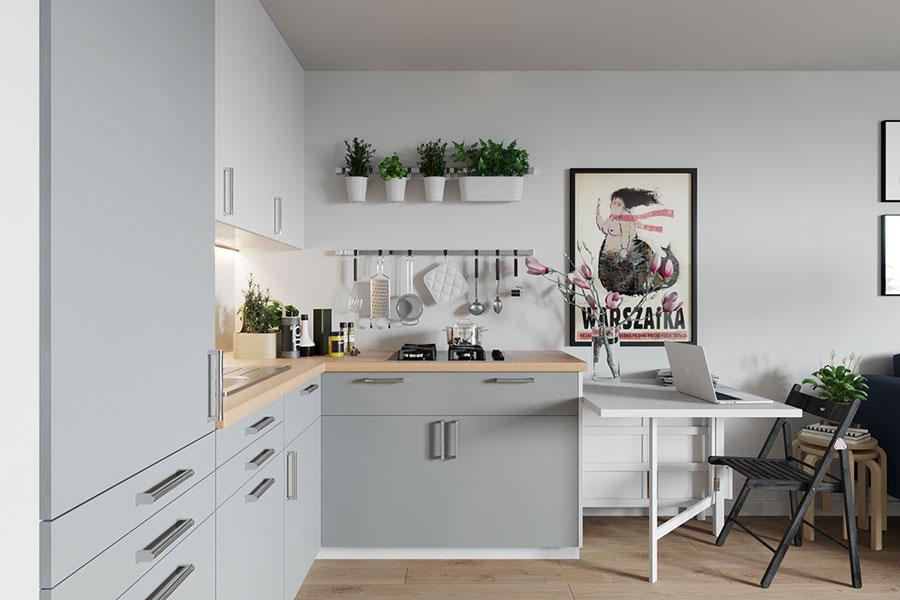 Idee per arredare un monolocale con Ikea n.02