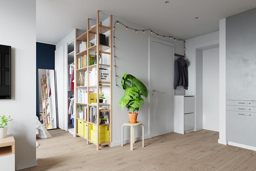 Idee per arredare un monolocale con Ikea n.03